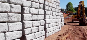 Commercial retaining wall materials